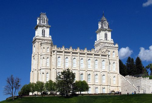 The Mormon temple in Manti, Utah.