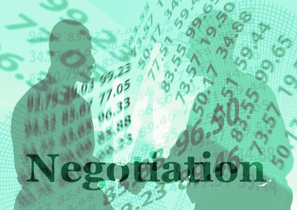 Home seller and home buyer negotiation process.