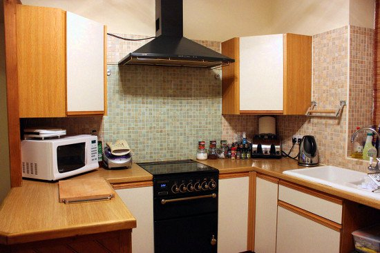A home warranty covers kitchen appliances.