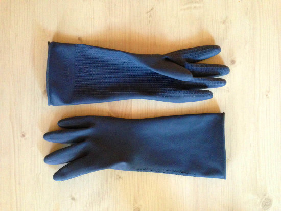 Gloves to use when cleaning your home.