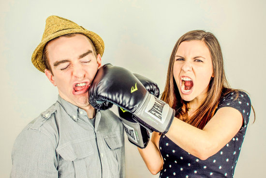 Boxing with your neighbor over housing issues.