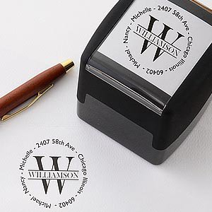 Give a personalized stamp as a housewarming gift