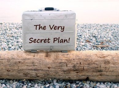 Briefcase with secret plan containing what you need to know before you sell your home.