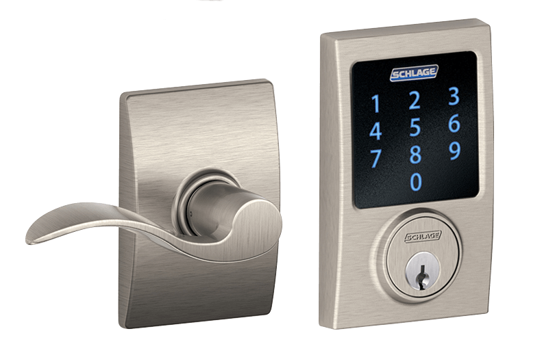 A smart home door lock.